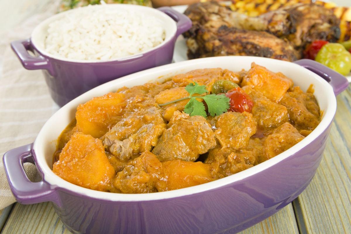 curry cu pui si cartof dulce