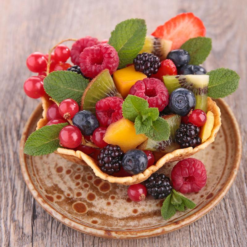 fructe de padure cu crema de mascarpone