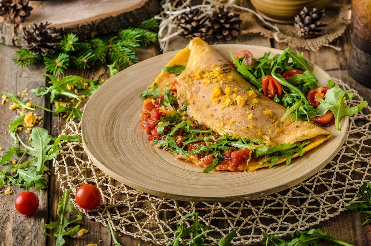 omleta mexicana umpluta