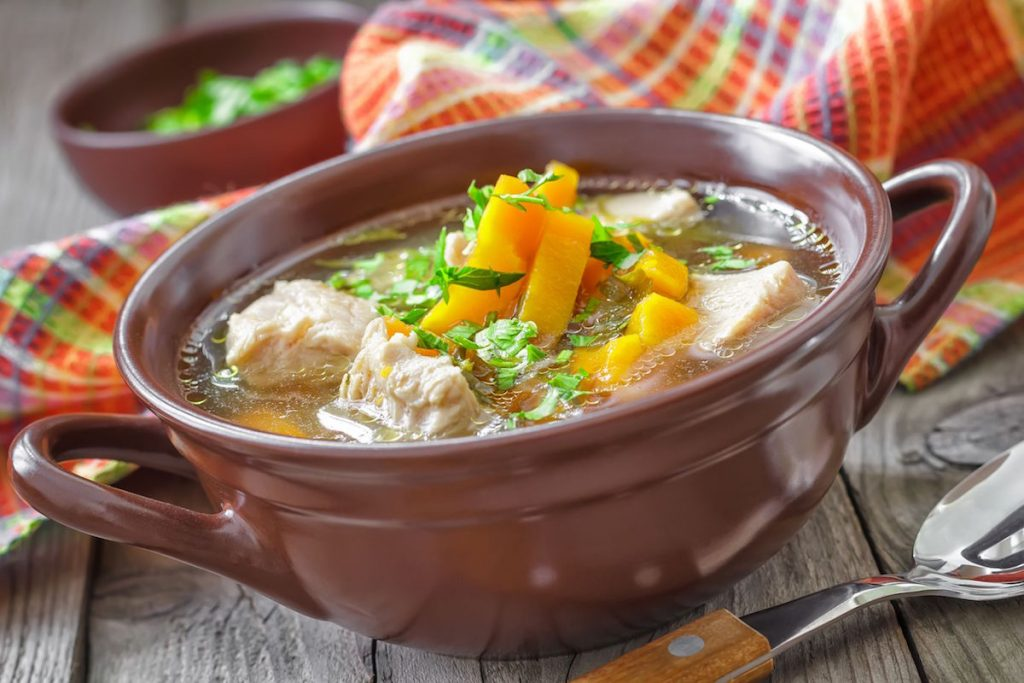 supa de primvara cu piept de pui