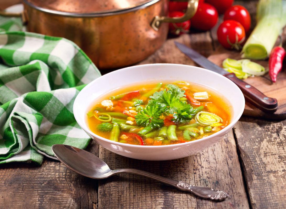 minestrone cu fasole verde