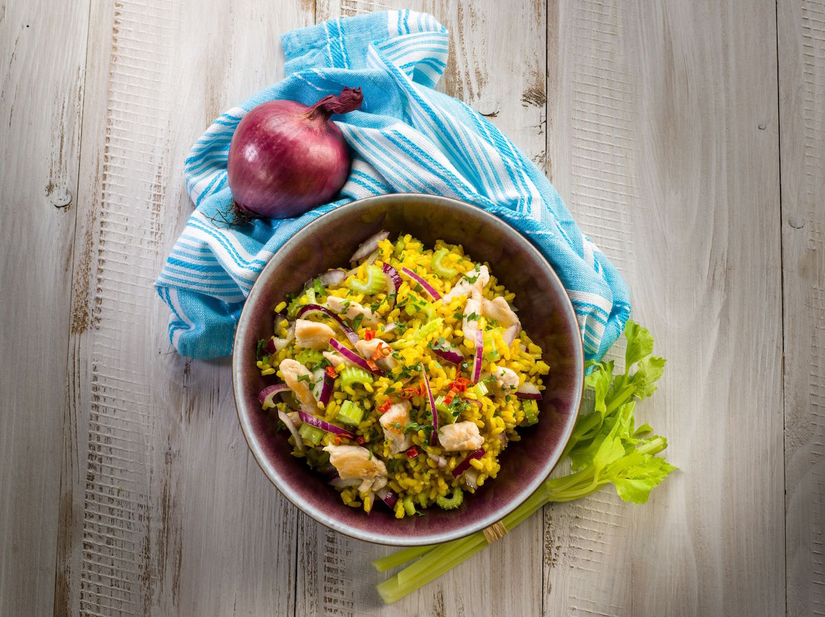 salata de orez cu pui