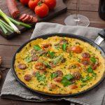 omleta cu chorizo