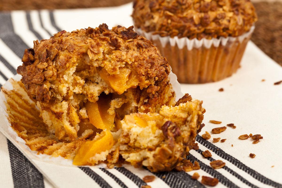 muffin cu piersici