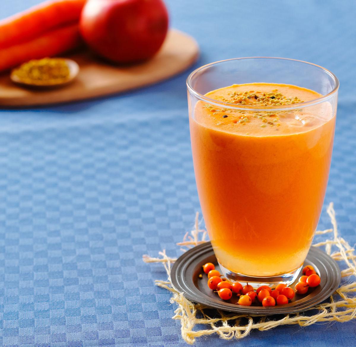 smoothie cu morcov, ghimbir si turmeric