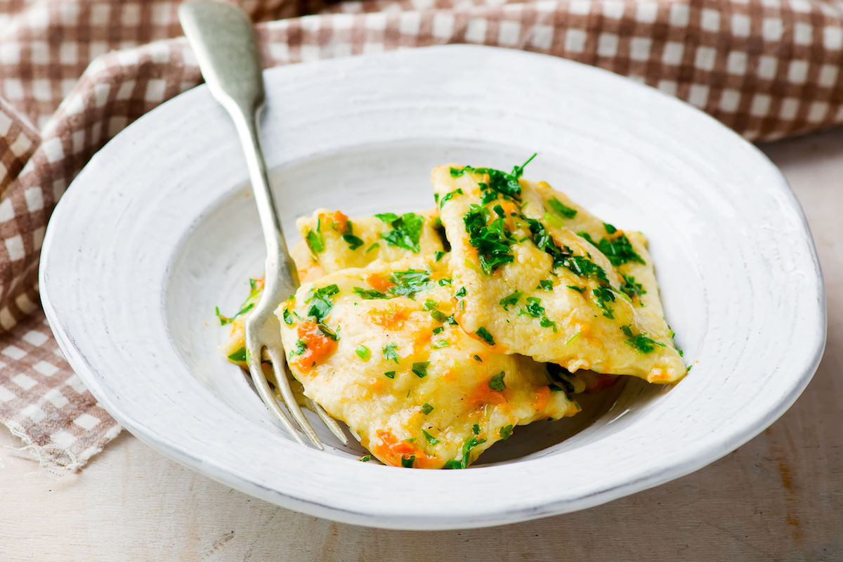 ravioli cu cartof dulce