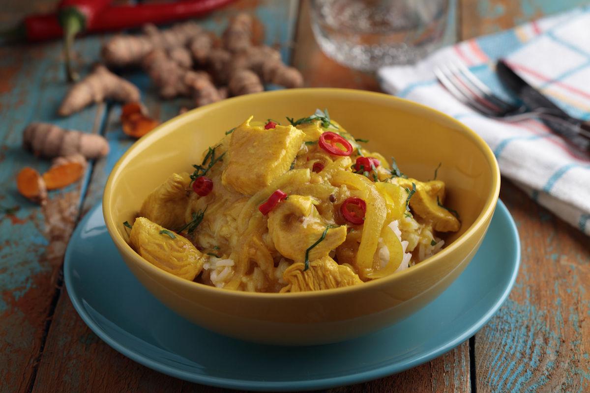 curry cu curcan si cartof
