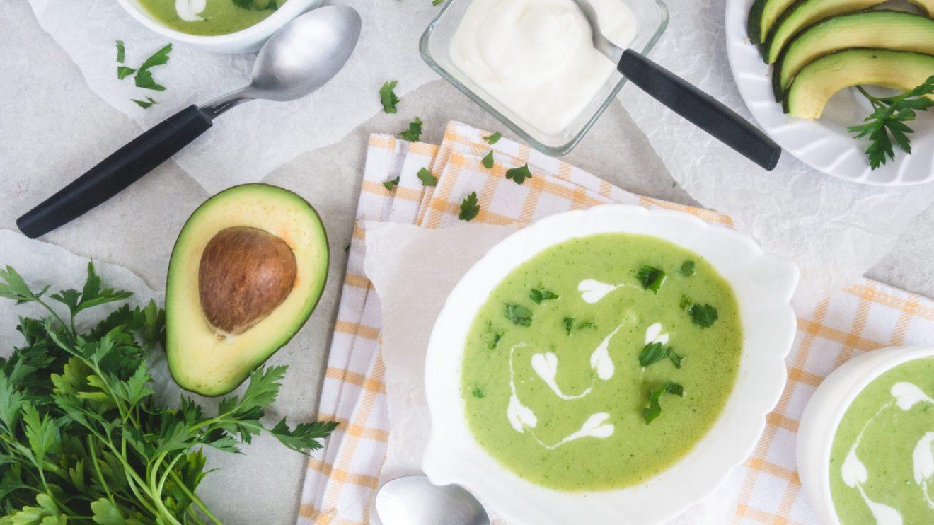 supa de praz si avocado