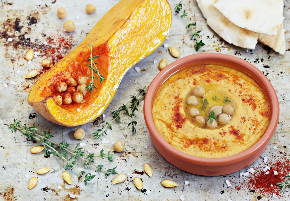 humus cu dovleac