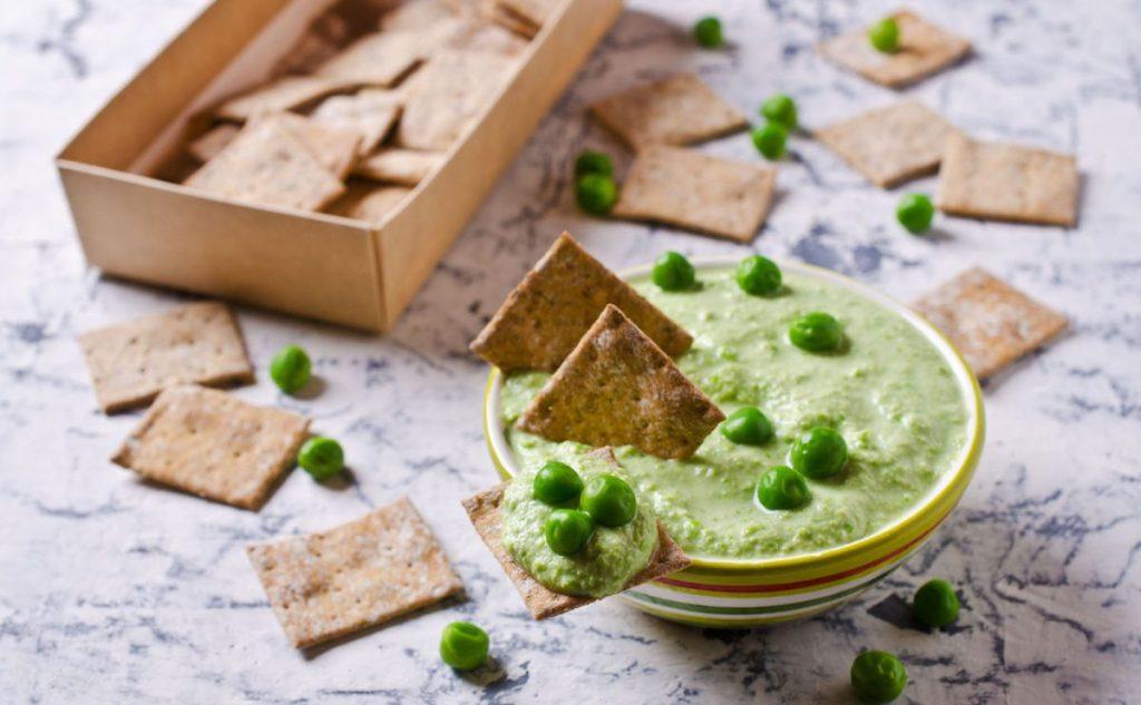 humus cu mazare